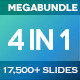 4 in 1 Mega Bundle PowerPoint - GraphicRiver Item for Sale