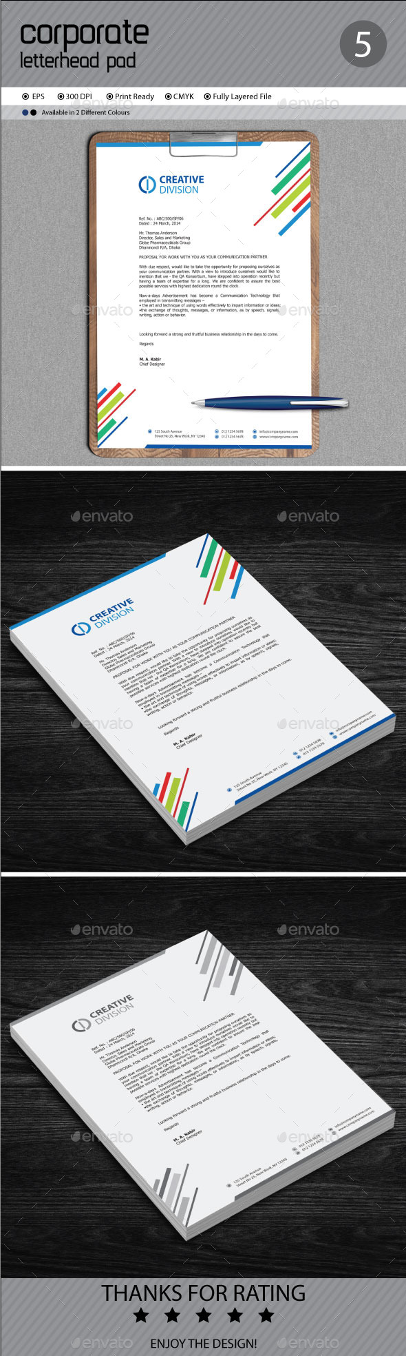 GraphicRiver Corporate Letterhead 11410132