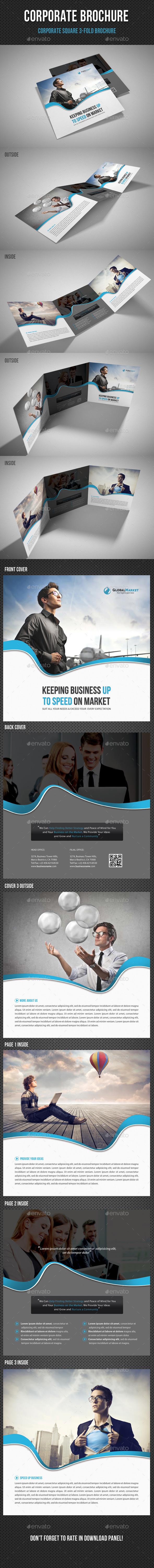 GraphicRiver Corporate Business Square 3-Fold Brochure V02 11410285