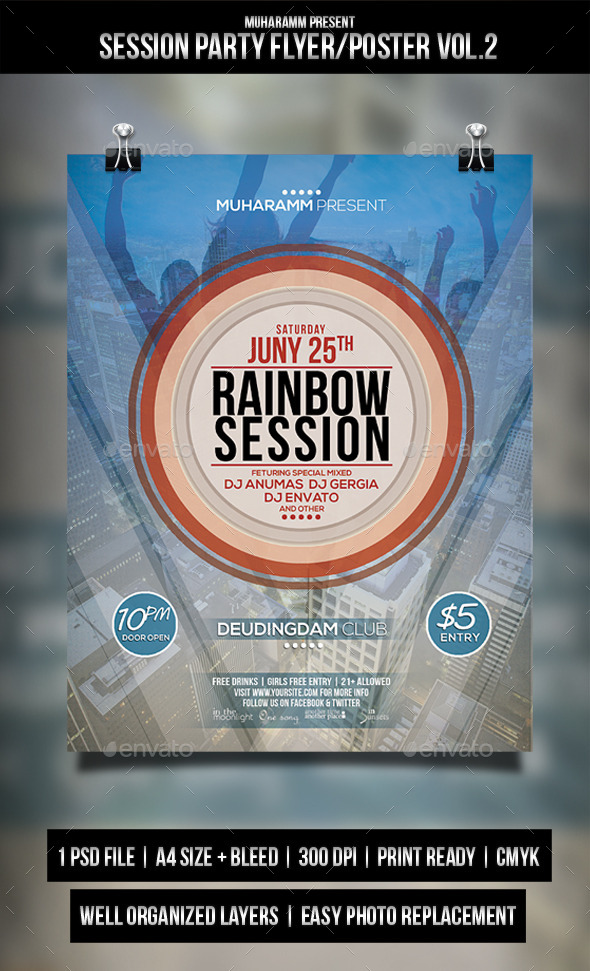 GraphicRiver Sessioan Party Flyer Poster 11410286