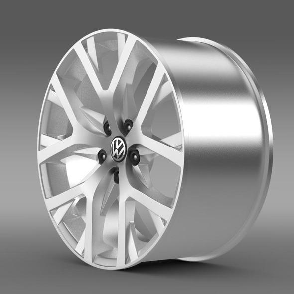 3DOcean Volkswagen CrossPolo 2014 rim 11410389