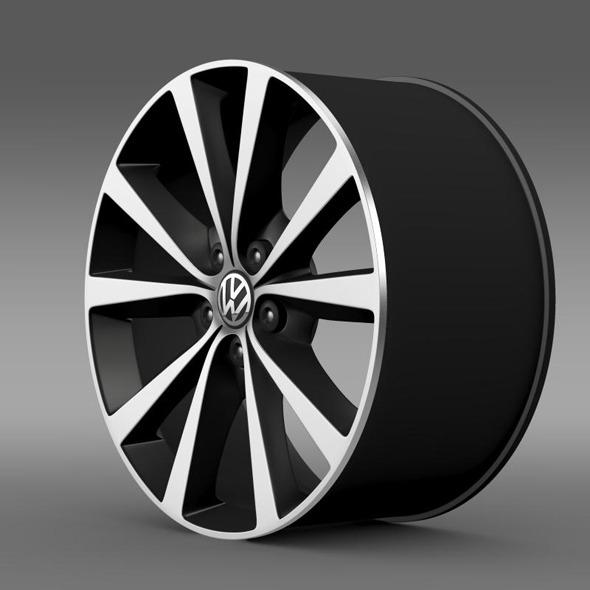 3DOcean Volkswagen Polo 2014 rim 11410391