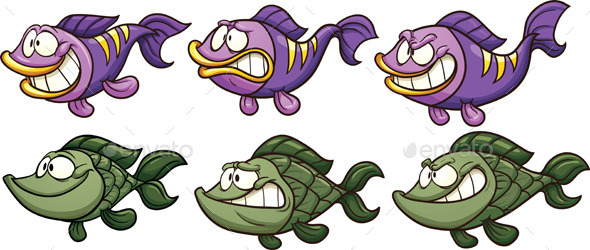 GraphicRiver Cartoon Fish 11410432
