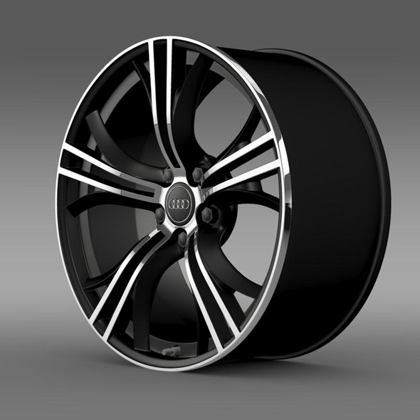 Audi R8 V10 Exclusive rim - 3DOcean Item for Sale
