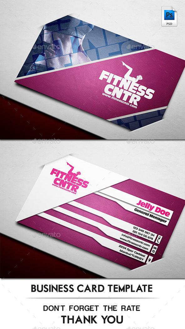 GraphicRiver Fitness Company Business Card 11410649