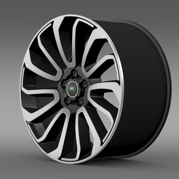 RangeRover V8 rim - 3DOcean Item for Sale