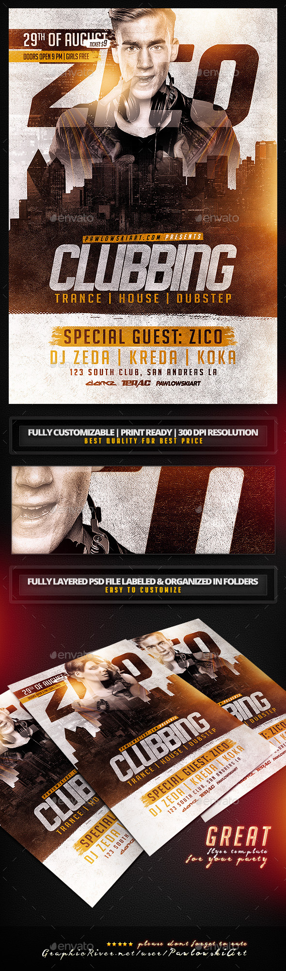 GraphicRiver Clubbing Flyer Template 11410730