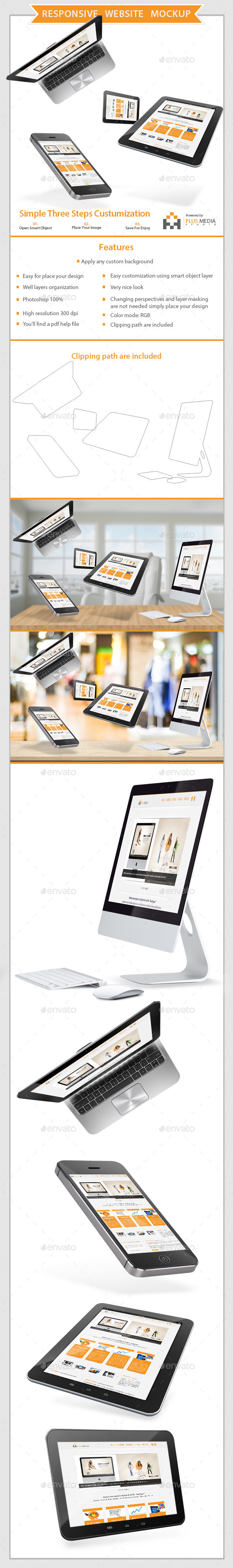 GraphicRiver Responsive Website Mockup 11410883