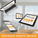 Responsive Website Mockup - GraphicRiver Item for Sale
