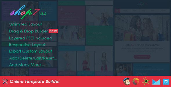 ThemeForest Shop7 Ecommerce Email & Drag & Drop Builder 11258777