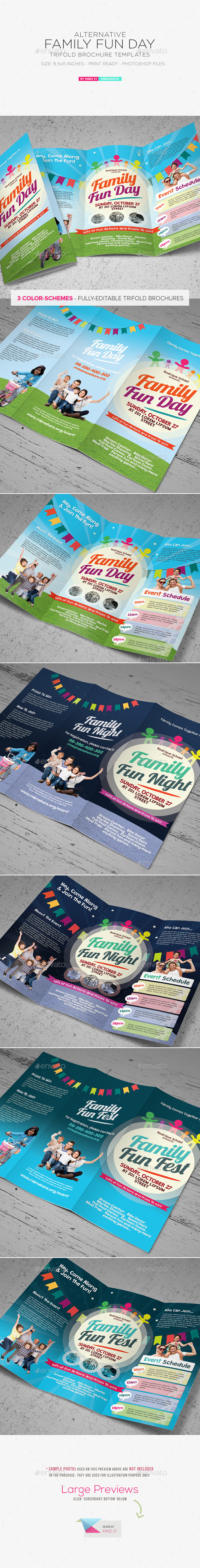 GraphicRiver Family Fun Day Trifold Brochures 11411178