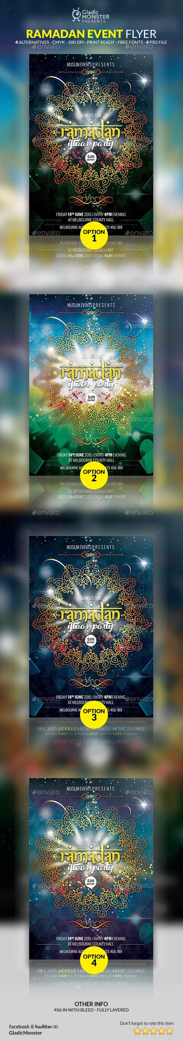 GraphicRiver Ramadan Iftaar Party Flyer 11411253