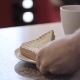 Barista Hands Give Two Sandwich And a Cup Of Hot - VideoHive Item for Sale