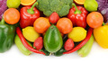 fruits and vegetables isolated on white background - PhotoDune Item for Sale