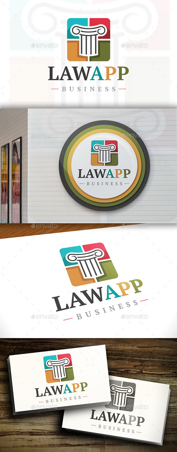 GraphicRiver Law Square Logo 11411598