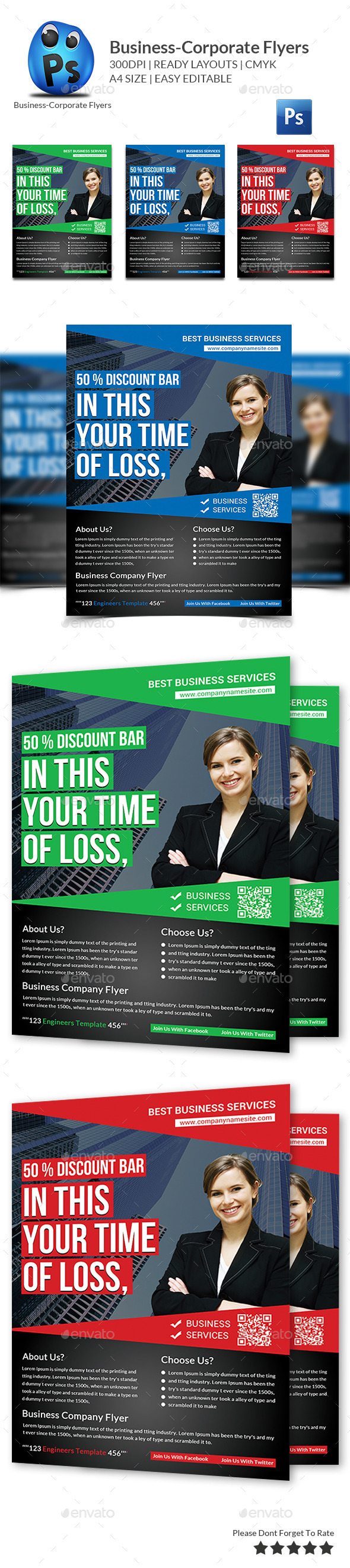 GraphicRiver Corporate Business Flyer Template 11411694