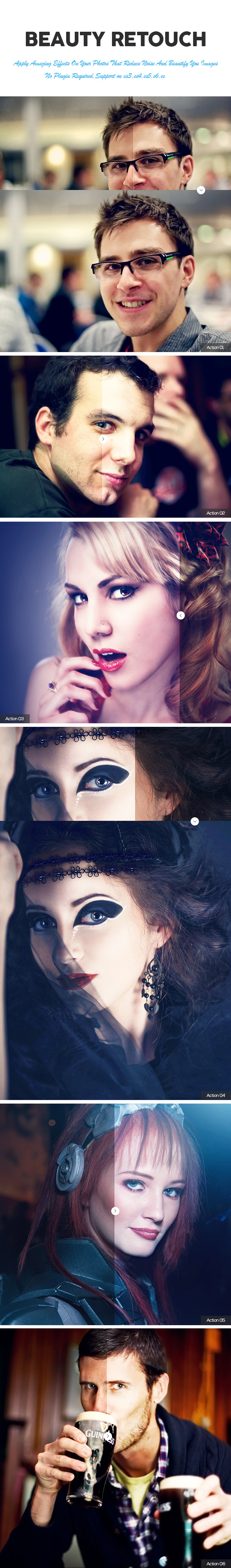 GraphicRiver Beauty Retouch Photoshop Action 11411734
