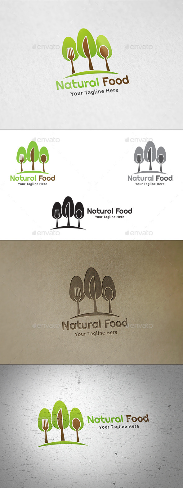 Natural Food - Logo Template