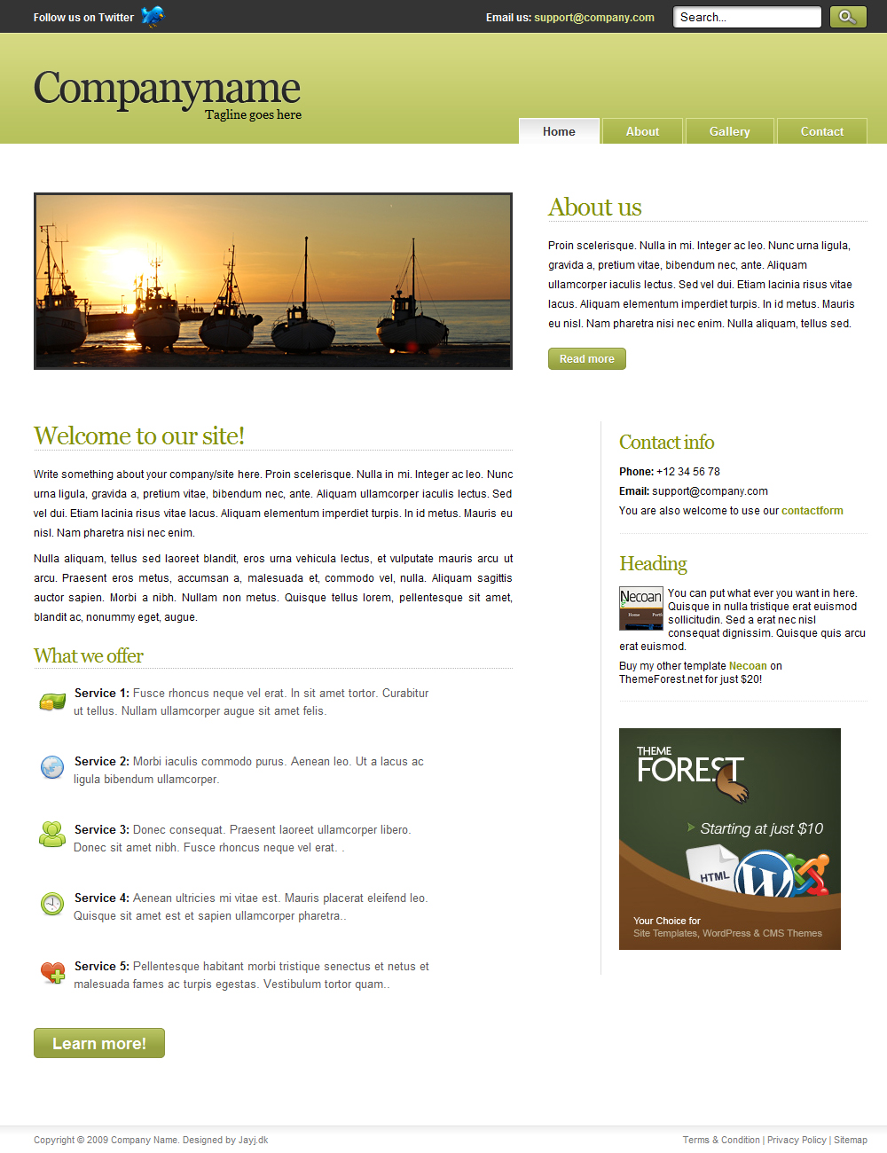 Green Tomec Business Template