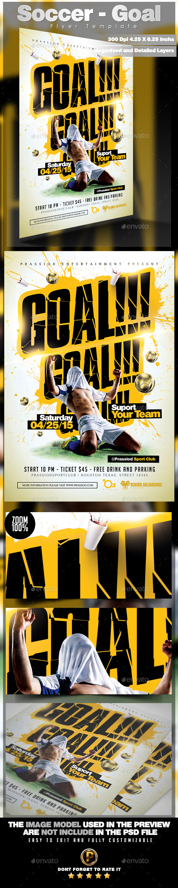 GraphicRiver Soccer Goal Flyer Template 11413077