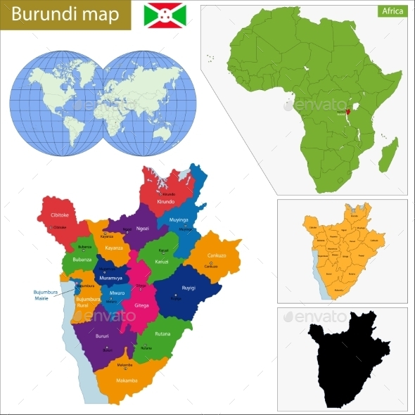 GraphicRiver Burundi Map 11413428