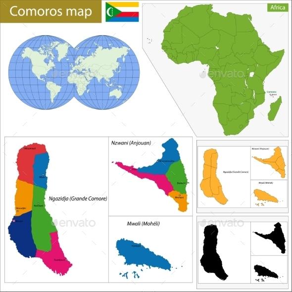 GraphicRiver Comoros Map 11413458