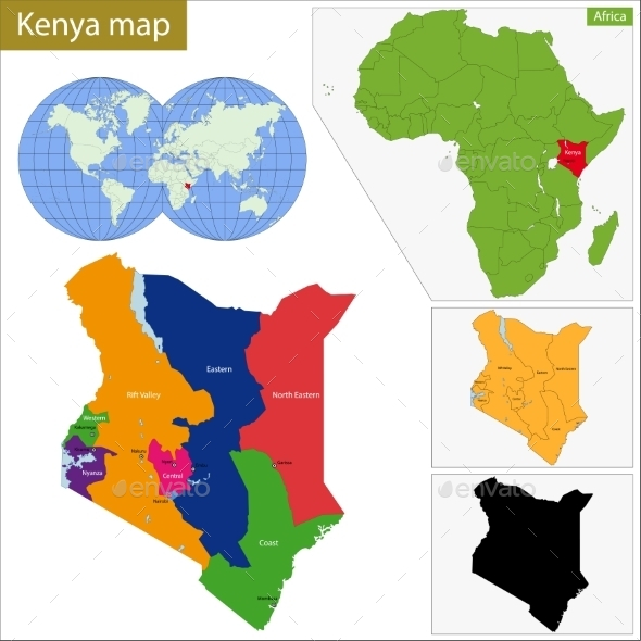 GraphicRiver Kenya Map 11413494