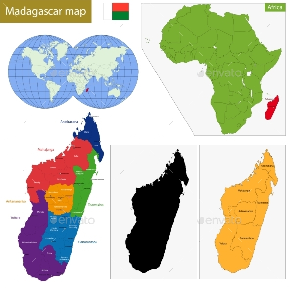 GraphicRiver Madagascar Map 11413515