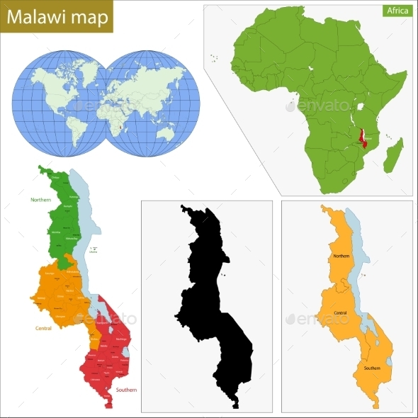 GraphicRiver Malawi Map 11413549