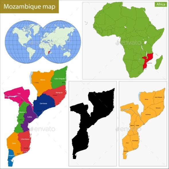 GraphicRiver Mozambique Map 11413606