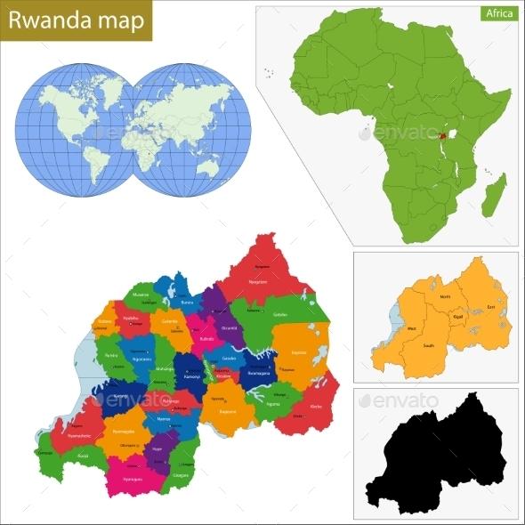 GraphicRiver Rwanda Map 11413645