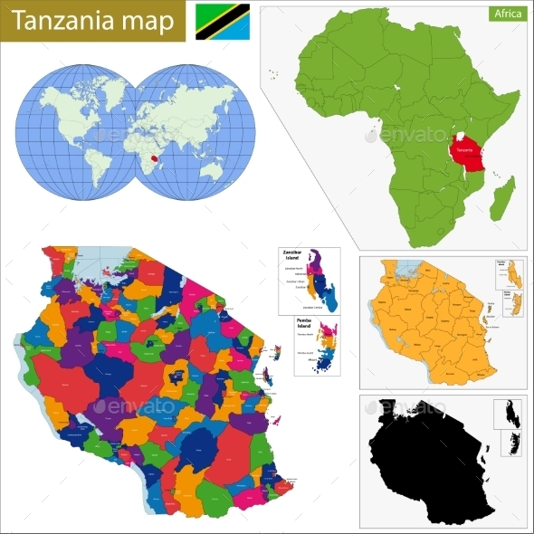 GraphicRiver Tanzania Map 11413765