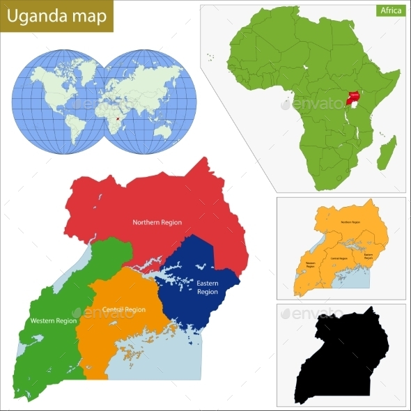 GraphicRiver Uganda Map 11413804