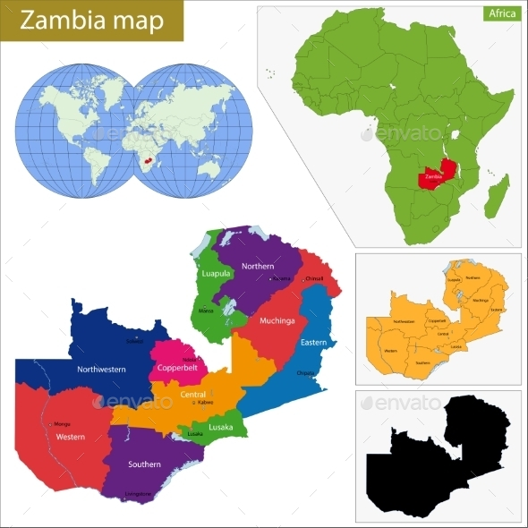 GraphicRiver Zambia Map 11413867