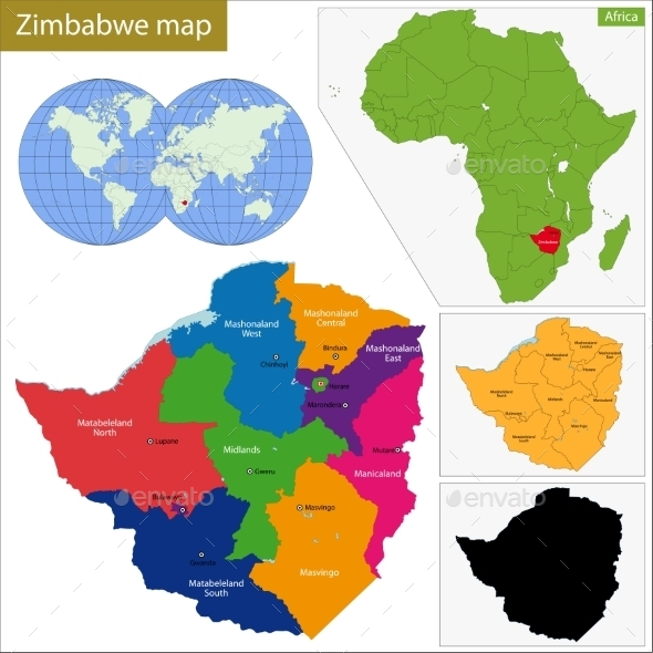 GraphicRiver Zimbabwe Map 11413920