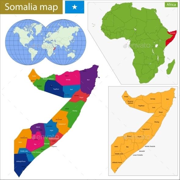 GraphicRiver Somalia Map 11413923