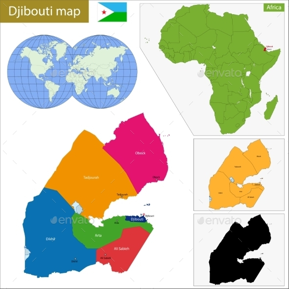 GraphicRiver Djibouti Map 11413971