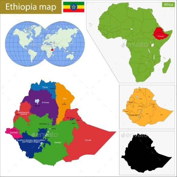 GraphicRiver Ethiopia Map 11414003