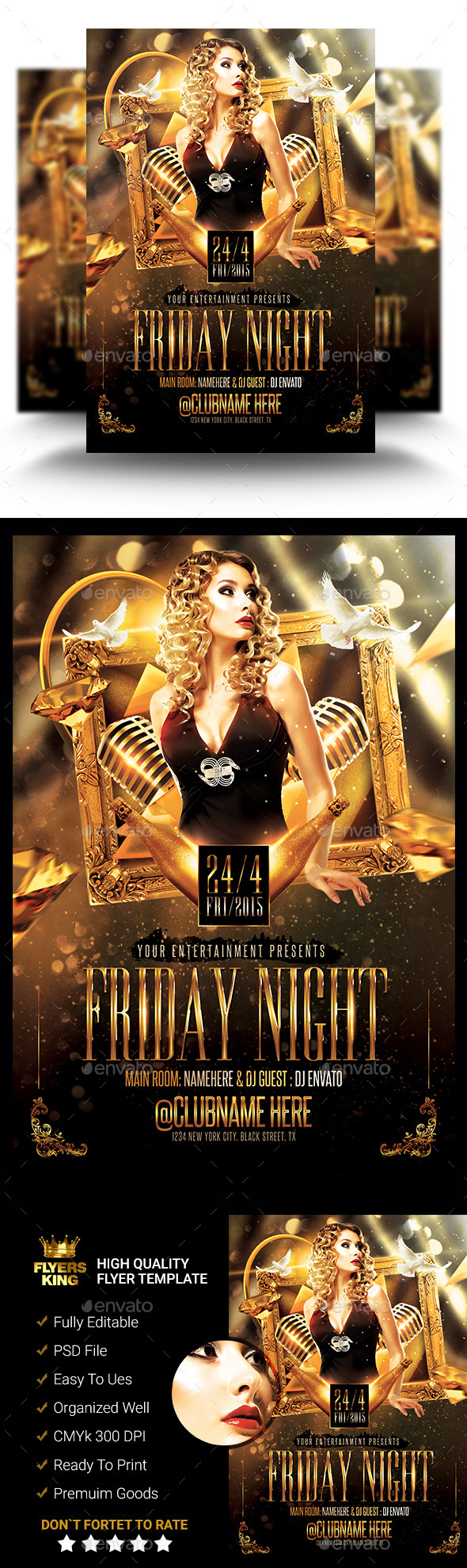 GraphicRiver Classy Friday Night Flyer 11414096