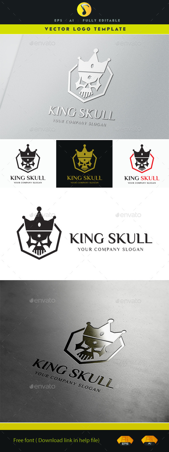 GraphicRiver King Skull 11414129