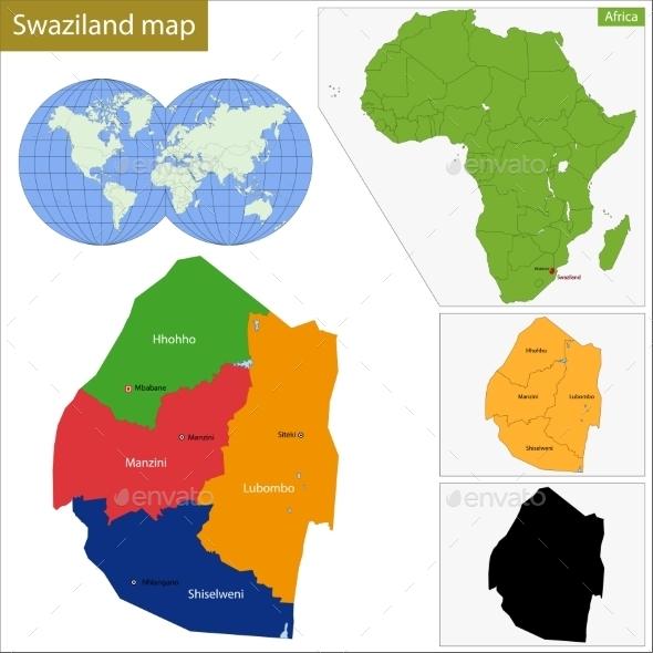 GraphicRiver Swaziland Map 11414159