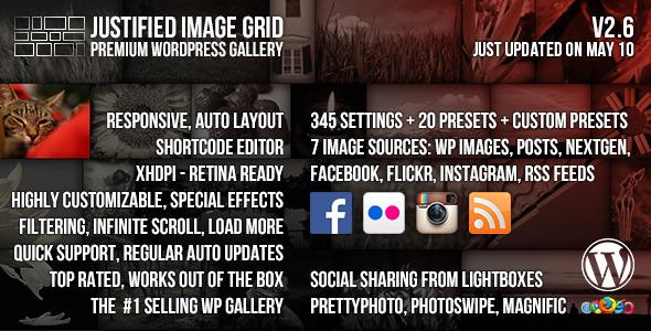 Justified Image Grid - Premium WordPress Gallery - CodeCanyon Item for Sale