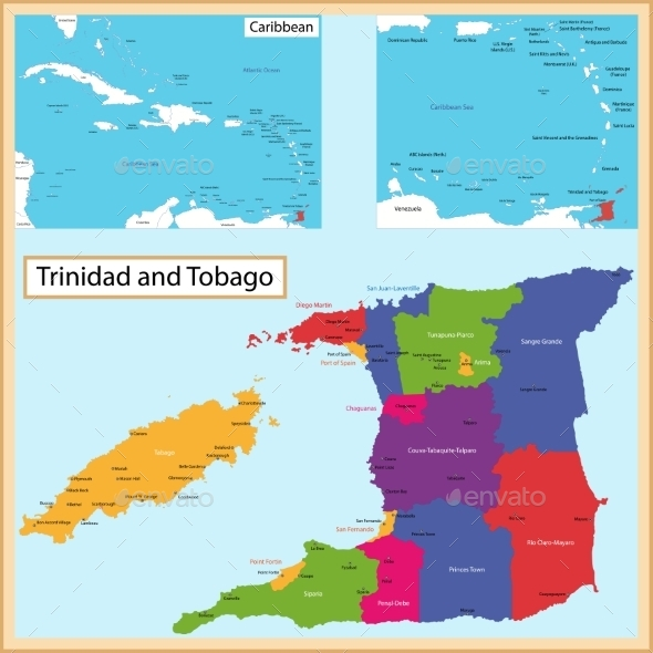GraphicRiver Trinidad And Tobago Map 11414210