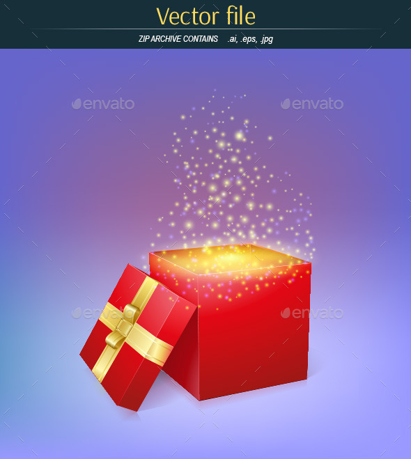GraphicRiver Gift Box with Magic Light 11414271