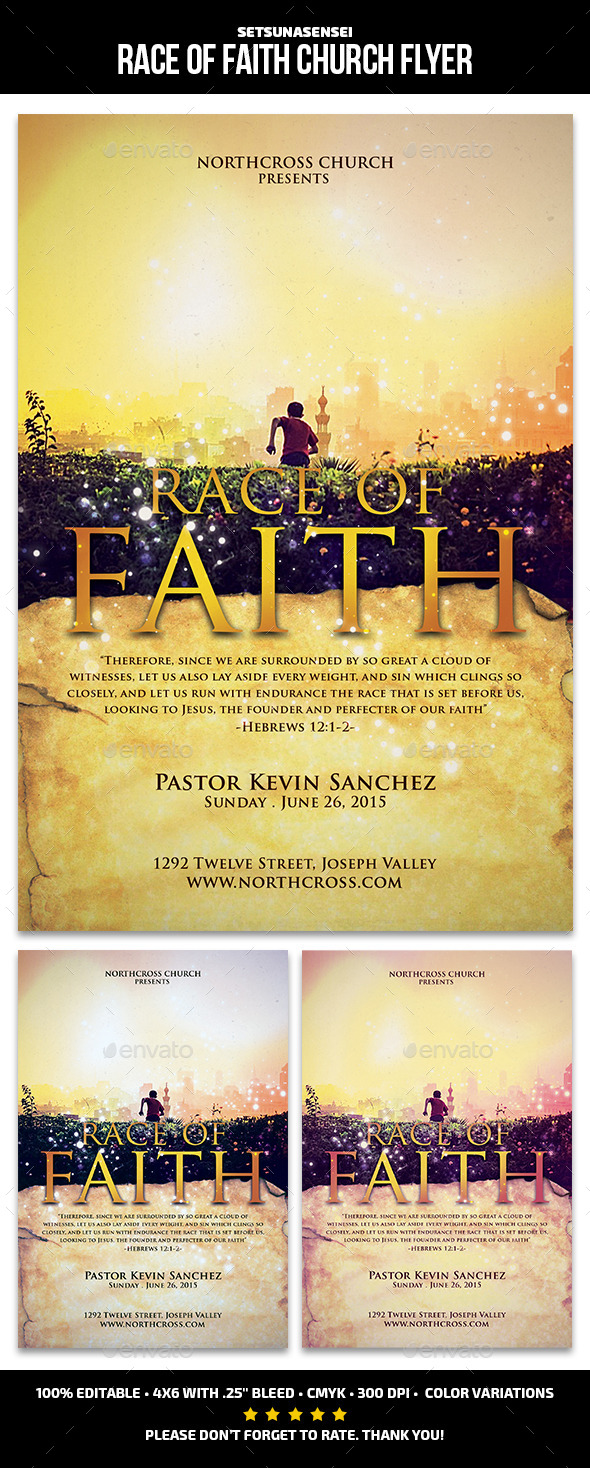GraphicRiver Race of Faith Church Flyer 11414600