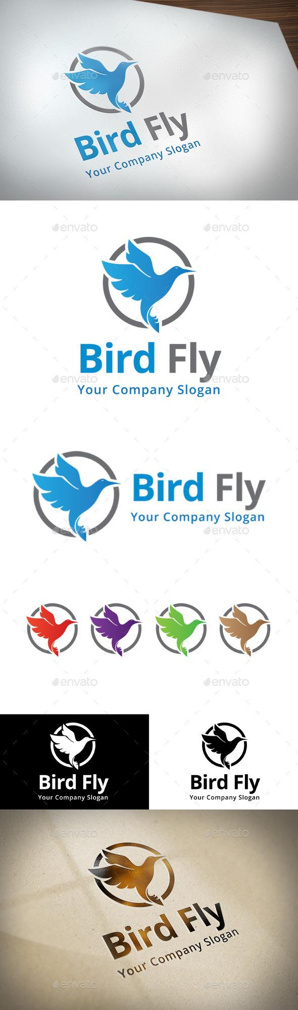 GraphicRiver Bird Fly Logo 11414672