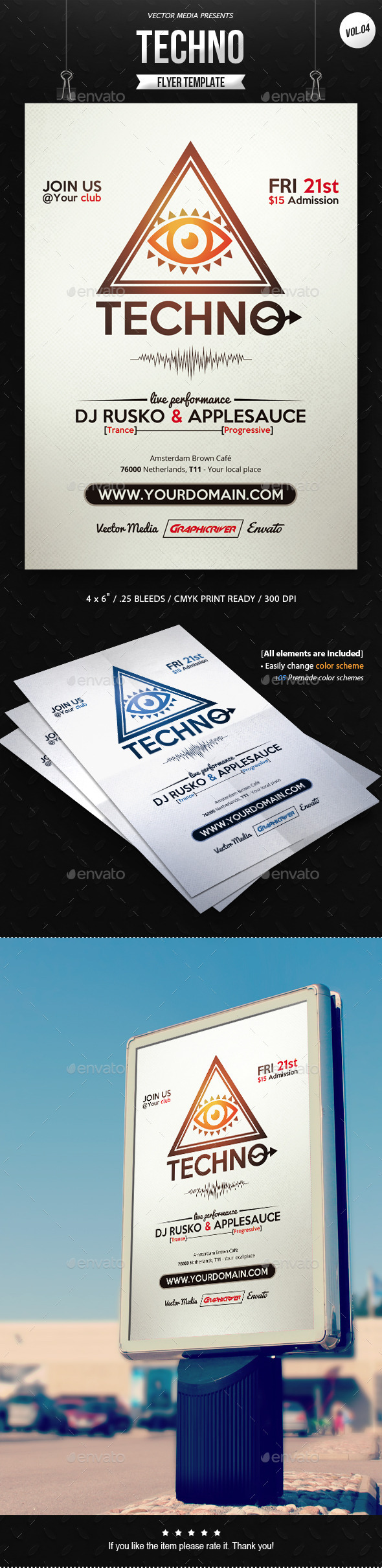 GraphicRiver Techno Flyer [Vol.4] 11414679