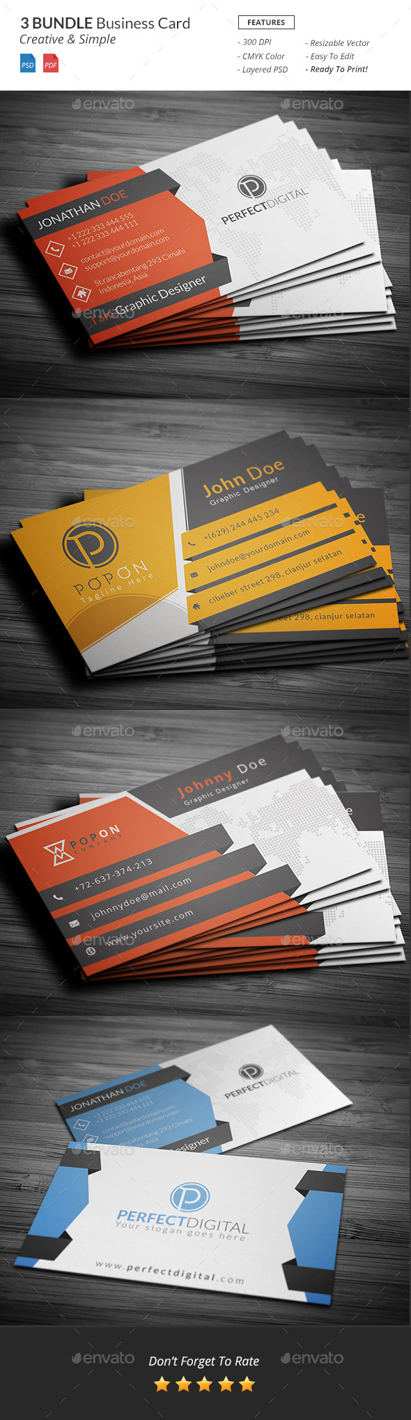 GraphicRiver Bundle Business Card Template 11414703