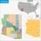 Arizona Map - GraphicRiver Item for Sale