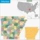 Arkansas Map - GraphicRiver Item for Sale